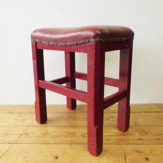イギリス ヴィンテージ 赤レンガ色のレトロなスツール