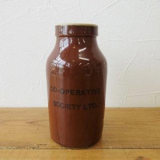 イギリス アンティーク ストーンウェアボトル CO-OPERATIVE SOCIETY 13.5cm
