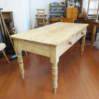 イギリス パイン材 ダイニングテーブル 150×75