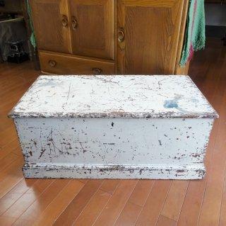 イギリス ヴィンテージ 木製ツールボックス アイボリーペイント 雰囲気抜群