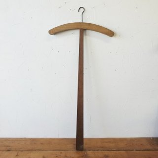 フランス ヴィンテージ 木製の十字ハンガー パイン材 A