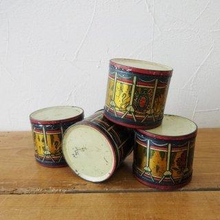 イギリス ヴィンテージ ブリキ缶 ブリキの太鼓 4個有り