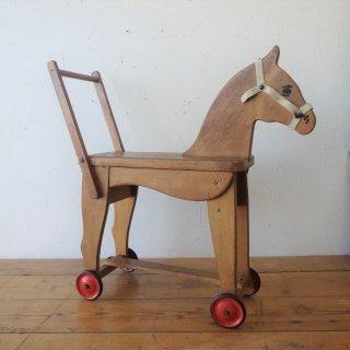 イギリス ヴィンテージ 玩具 木馬 車輪付き