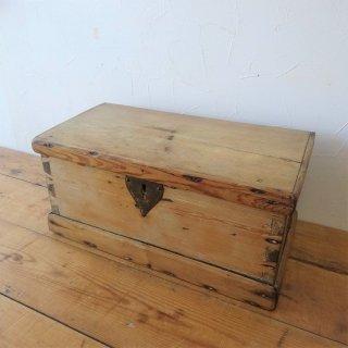 イギリス オールドパイン 木箱 ツールボックス 裁縫箱