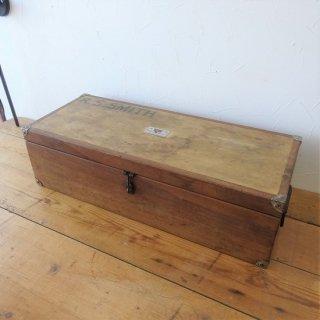イギリス ヴィンテージ スミスさんのツールボックス 木箱 パイン&マホガニー