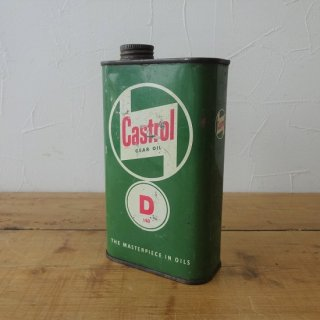 イギリス ヴィンテージ CASTROL GEAR OIL ブリキ缶 オイル缶