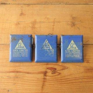 イギリス ヴィンテージ スチール製ペーパークリップ 企業広告入り 3個セット