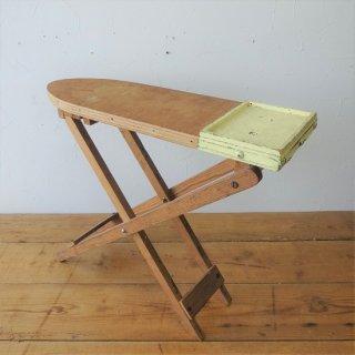 フランス ヴィンテージ 子供用 小さな木製アイロン台 ディスプレイ おままごと ブロカント