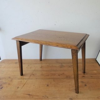 イギリス ヴィンテージ オーク材の折り畳みテーブル サイドテーブル コーヒーテーブル キャンプ アウトドア