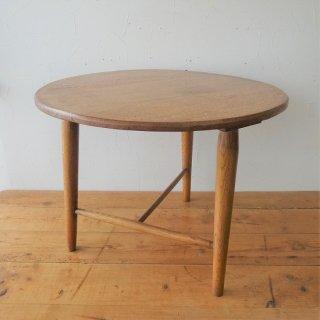 イギリス ヴィンテージ サイドテーブル 三本脚 ライトオーク コーヒーテーブル