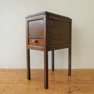 フランス アンティーク オーク材のソーイングボックス アールデコ ブロカント サイドテーブル