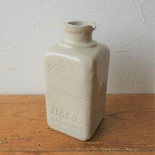 イギリス ストーンウェアポット ボトル FIELD'S インクポット 一輪挿し 14.5cm B