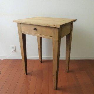 フランス ヴィンテージ 小ぶりなパイン材テーブル パソコンデスク サイドテーブル 飾り台