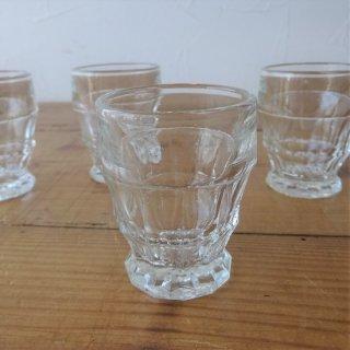 フランス ヴィンテージ リキュールグラス ショットグラス カットガラス 2個有り