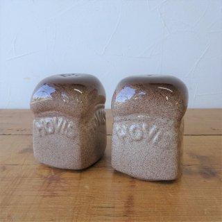 イギリス ヴィンテージ HOVIS 陶器製 S&P A