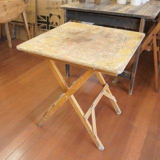 イギリス ヴィンテージ 木製フォールディンングテーブル A