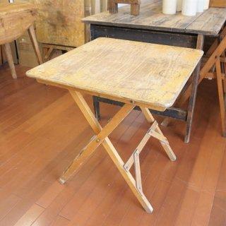 イギリス ヴィンテージ 木製フォールディンングテーブル B