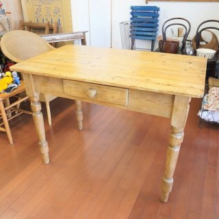 イギリス ヴィンテージ パイン材テーブル ワークデスク 106.5×76
