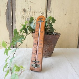 イギリス ヴィンテージ BOOTS 温度計 医療用 木製 華氏
