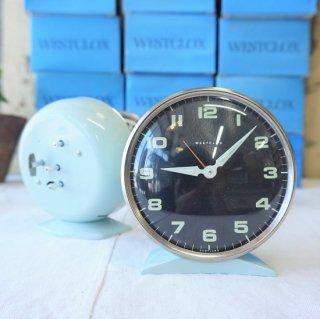 イギリス ヴィンテージ 70年代 WESTCLOX 目覚まし時計 デッドストック 未使用品 スコットランド ベビーブルー 5個入荷