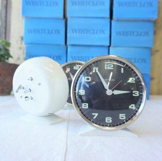 イギリス ヴィンテージ 70年代 WESTCLOX 目覚まし時計 デッドストック 未使用品 スコットランド ホワイト 5個入荷