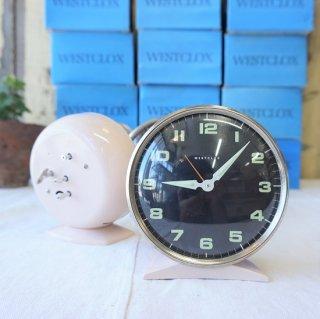 イギリス ヴィンテージ 70年代 WESTCLOX 目覚まし時計 デッドストック 未使用品 スコットランド 薄ピンク 5個入荷