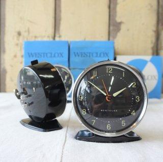 イギリス ヴィンテージ 70年代 WESTCLOX 目覚まし時計 デッドストック 未使用品 スコットランド ブラック 残り3個