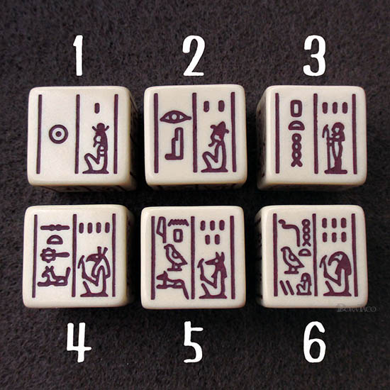 Dice Of Ancient Egypt-1-6