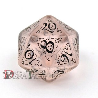 D20単品・エルフ 【クリア&ブラックダイス】 20面×1個