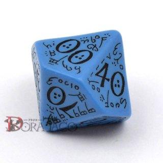 D10(D100)単品・エルフ 【ブルー&ブラックダイス】 10面(テンズ10)×1個