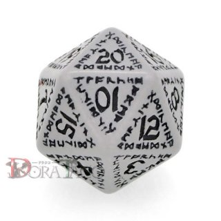 D20単品・ルーニック(ルーン) 【グレー&ブラックダイス】 20面×1個