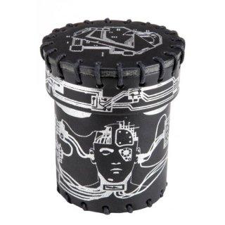 サイバーパンク(Cyberpunk)【レザーダイスカップ ブラック】Leather Dice Cup Q-WORKSHOP