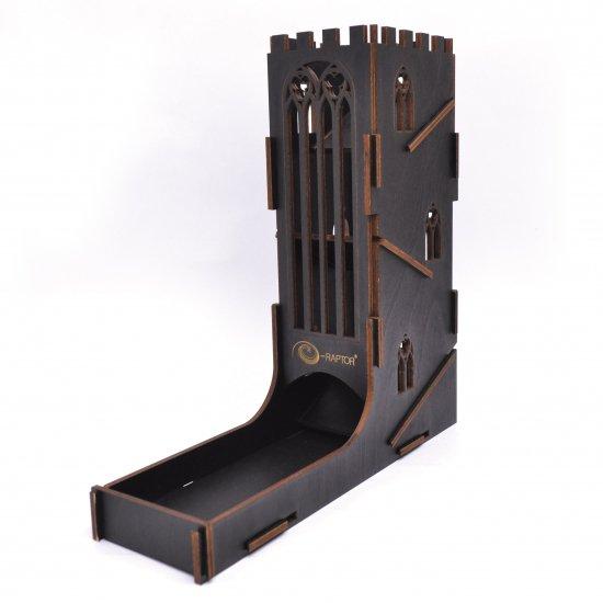 理由あり在庫赤字大処分価格◆e-Raptor(イーラプター) 木製ダイスタワー/ブラックキャッスル