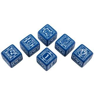 バトルテック(Battletech)【ブルー&ホワイトダイス 6面×6個セット】House Steiner Dice Set Q-WORKSHOP