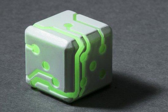 スペースローラーダイス【グリーングロー/ホワイト】2個入り1セット SpaceRollerDice