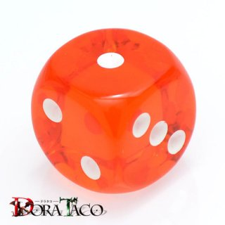 D6・単品 チェセックス 16mm 6面サイコロ オレンジ