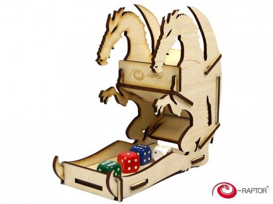 e-Raptor(イーラプター) 木製ダイスタワー/ミニ・ウッドドラゴン