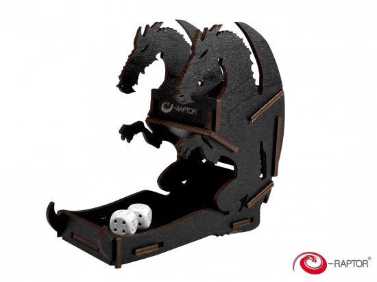 e-Raptor(イーラプター) 木製ダイスタワー/ミニ・ブラックドラゴン