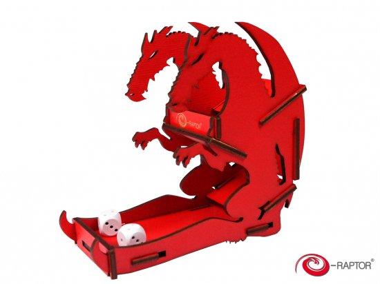 e-Raptor(イーラプター) 木製ダイスタワー/ミニ・レッドドラゴン