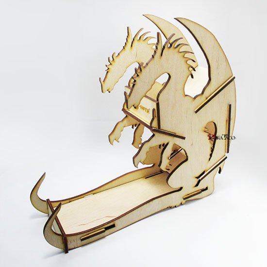 ご予約◆e-Raptor(イーラプター) 木製ダイスタワー/ウッドドラゴン