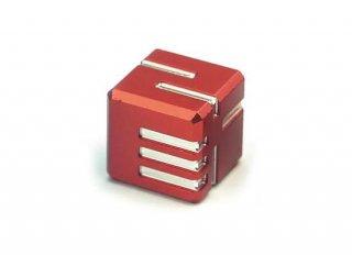 サイコロ AKOダイスI 金属製 レッド 1個