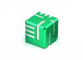 サイコロ AKOダイスI 金属製 グリーン 1個