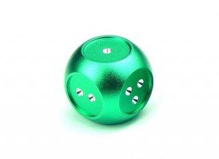 サイコロ AKOダイスII 金属製 グリーン 1個