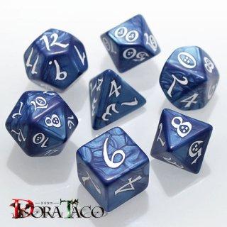 クラシック(Classic dice)【コバルト&ホワイトダイス】Cobalt & white Q-WORKSHOP