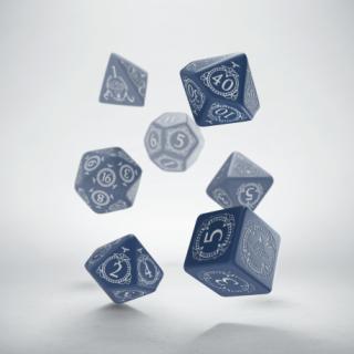 パスファインダー(Pathfinder)【ダルブルー&ホワイトダイス 7個セット】Hell's Rebels Q-WORKSHOP