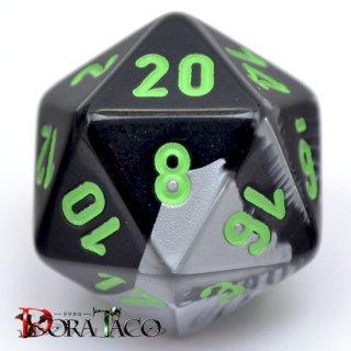 20面単品:チェセックス ジェミニ ブラック・グレイ&グリーン 20面×1個