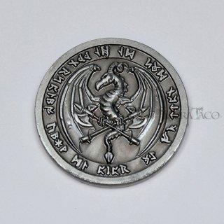 ファイア メタルコイン【1枚 シルバー】ファンタジーコイン レガシーゲーム用コイン