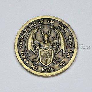 ファイア メタルコイン【1枚 ゴールド】ファンタジーコイン レガシーゲーム用コイン