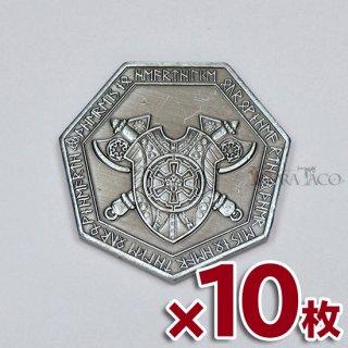 10枚セット◆ドワーフ メタルコイン【10枚セット シルバー】ファンタジーコイン レガシーゲーム用コイン