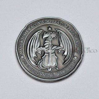 ドラコ メタルコイン【1枚 シルバー】ファンタジーコイン レガシーゲーム用コイン